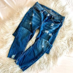Blank NYC Distressed Raw Hem Skinny Jeans